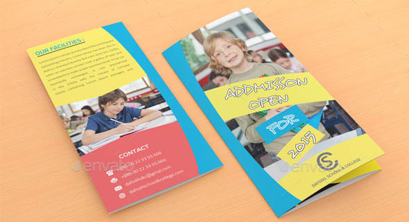 Junior School & College Promotion Trifold Brochure