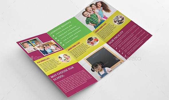 Kids School Admission Trifold Brochure