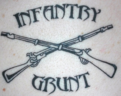 Military Infantry tattoo