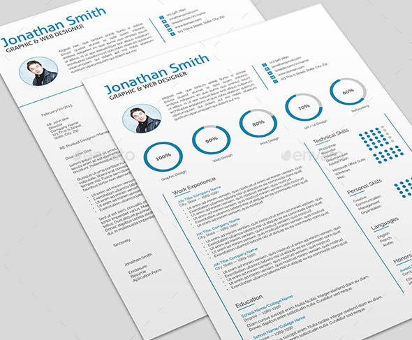 Modern clean scannable resume templates indesign idealstalist modern clean scannable resume templates indesign yelopaper Images