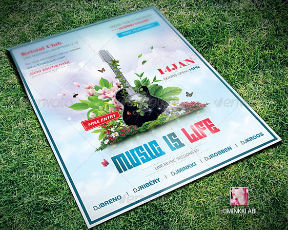 Music Is Life Poster Flyer