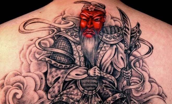 Red Faced Samurai Tattoo