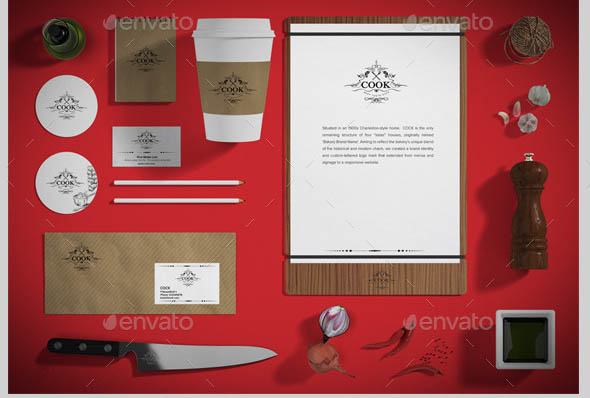 Restaurant Food Branding Identity Mock-up