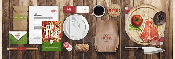 Restaurant Food Identity Mock-up