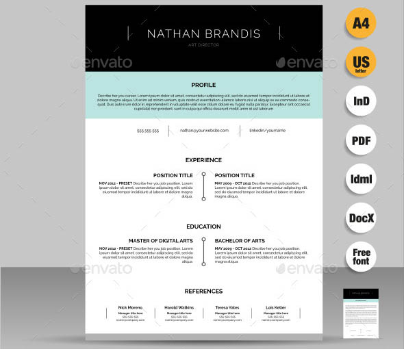 Resume CV Cover Letter Pack  What A Great Resume Looks Like