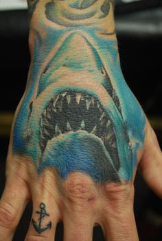 Shark Tattoo on Hand