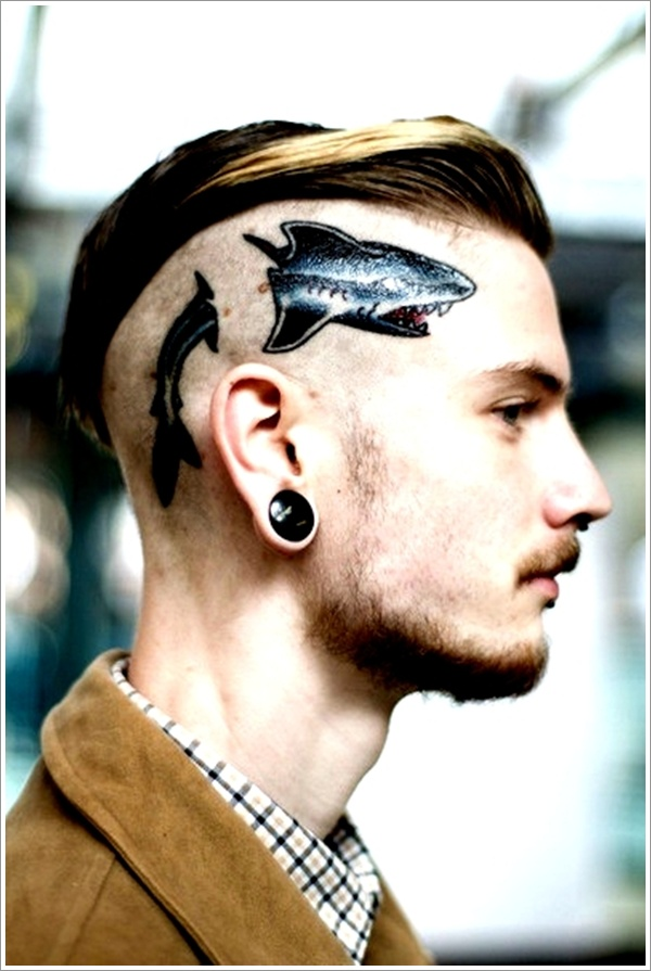 Shark Tattoo on Head