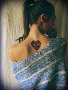 Spiderman Tattoo on Back For Girl