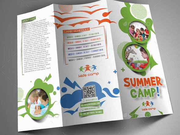 Brochure PSDs For School Education Desiznworld - Tri fold school brochure template