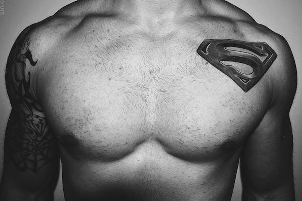 Superman Logo Seal tattoo