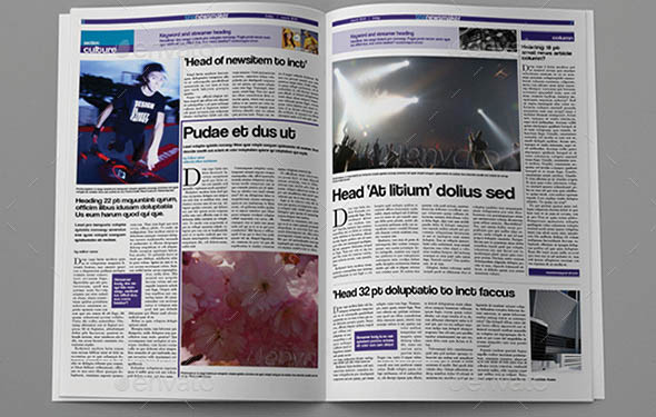 Great Indesign Newspaper Templates  Desiznworld