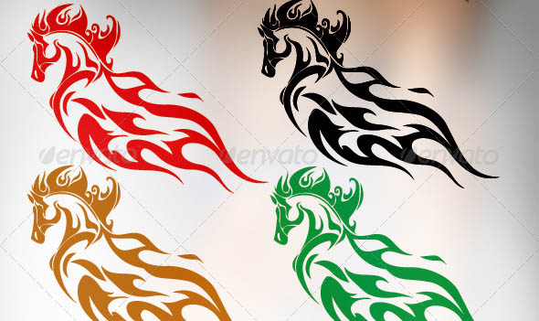 Vector Tattoo Horse Design