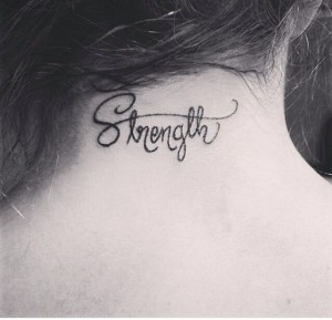 neck strength tattoo