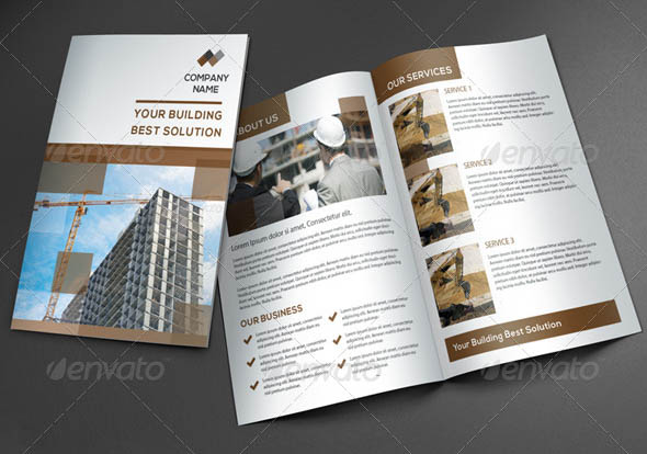 24 cool construction brochure templates  u2013 desiznworld