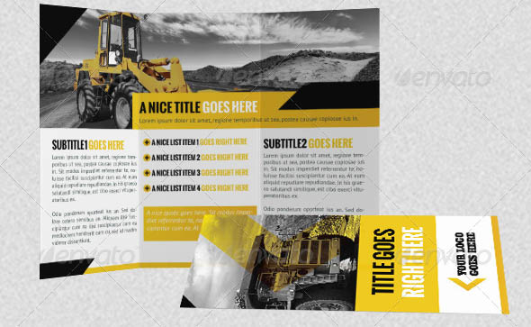 Construction Company A4 Letter Trifold