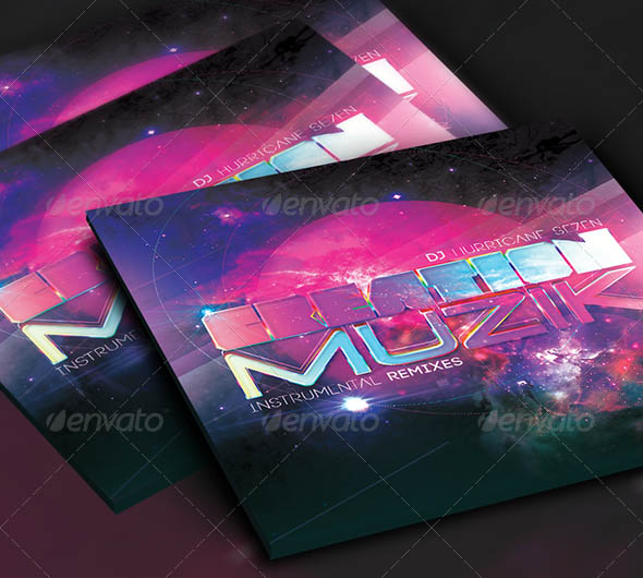 Creation Music CD Cover Artwork Template