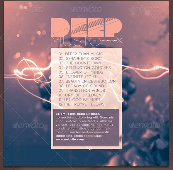 Deep Music- CD Cover Artwork Template