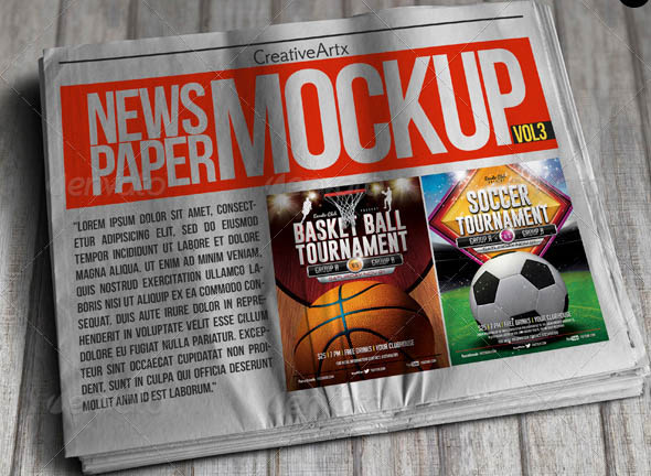 18 Beautiful Newspaper Mockup PSDs – Desiznworld
