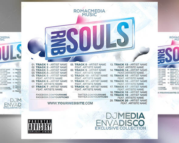 RnB Souls Music CD Cover