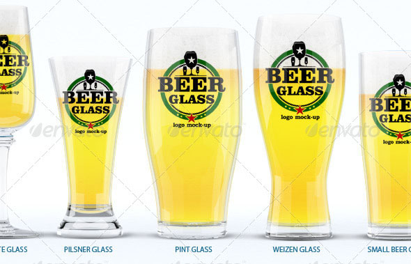 Beer Glasses Logo Mockup
