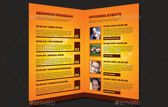20 Nice Church Brochure Templates PSD InDesign Desiznworld – Church Bulletin Template