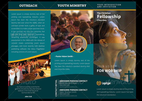 Church Holyland TriFold Brochures Vol 2