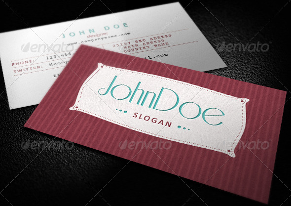 Classic Retro Business Card