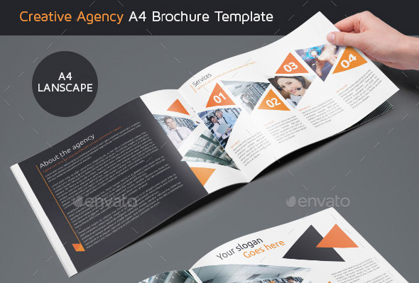 20 great sales brochures templates desiznworld for Creative brochure templates free