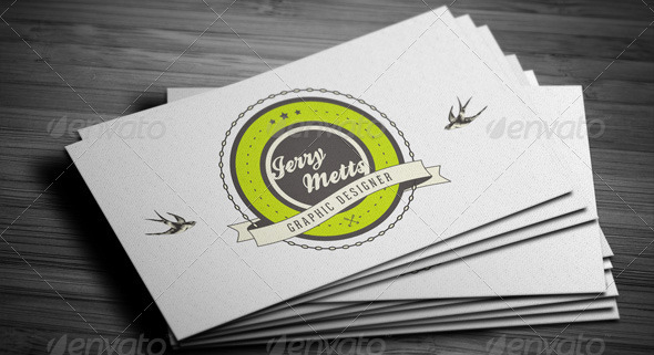 Creative Retro Business Card 2