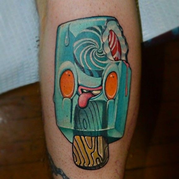 Cute Ice-Cream Tattoo