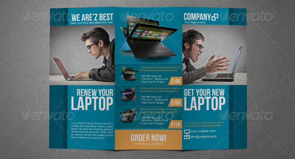Electronic Sales Brochure Tri-Fold