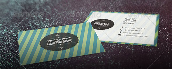 Elegant Retro Business Card
