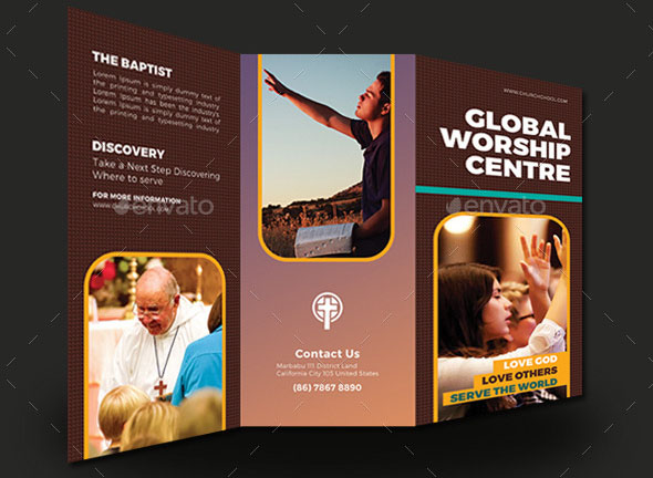 Global Worship Church Trifold Brochures