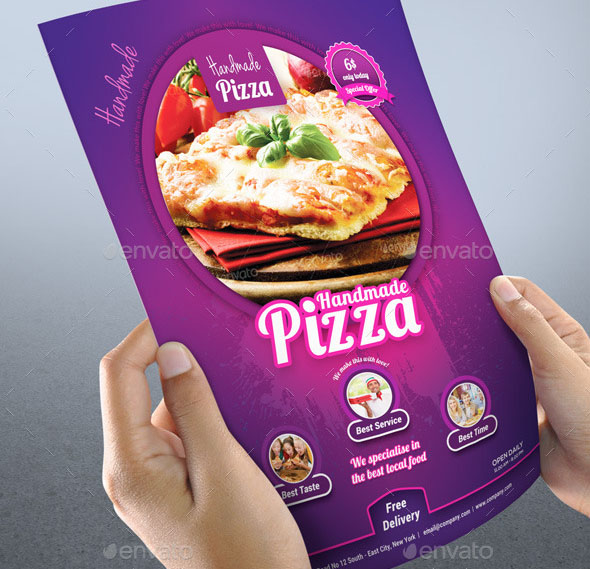 Handmade Pizza Food Flyer Template