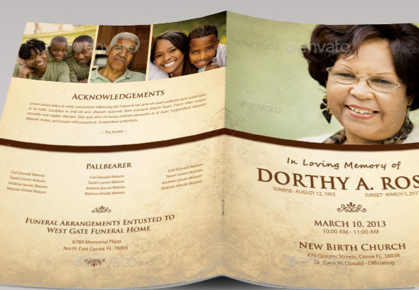 Great Funeral Brochure Templates  Desiznworld