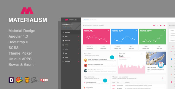 Materialism Angular Bootstrap Admin Template