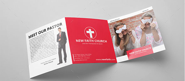 Minimal Square Church Trifold