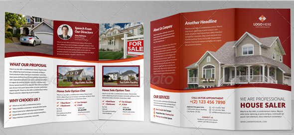 House For Sale Brochure Template Aprilonthemarchco - Real estate sales brochure template