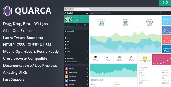 Quarca Responsive Admin Dashboard Template