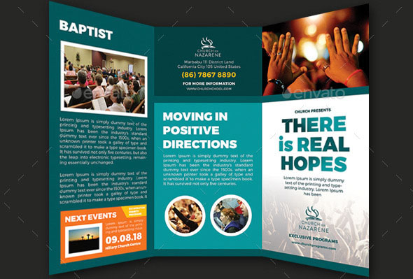 Real Hopes Church Trifold Brochures