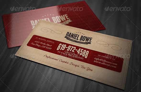 Retro Business Card 04