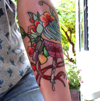 Sweet Candy Tattoo on Arm