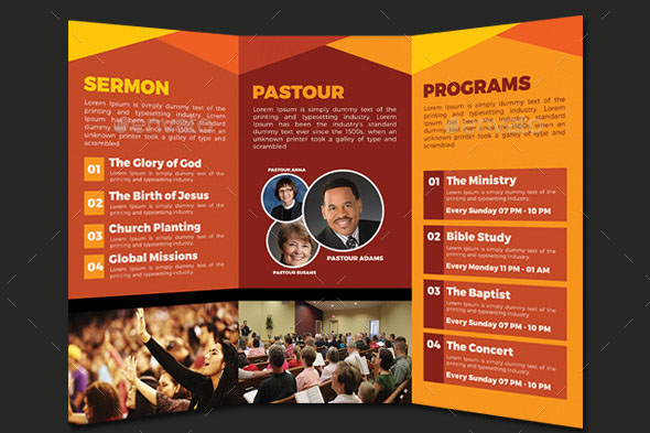 20 Nice Church Brochure Templates (PSD & InDesign) – Desiznworld