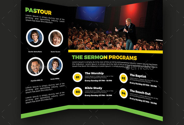The Monthly Worship Trifold Brochures