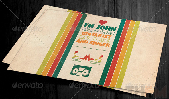 Vintage and Retro Business Card