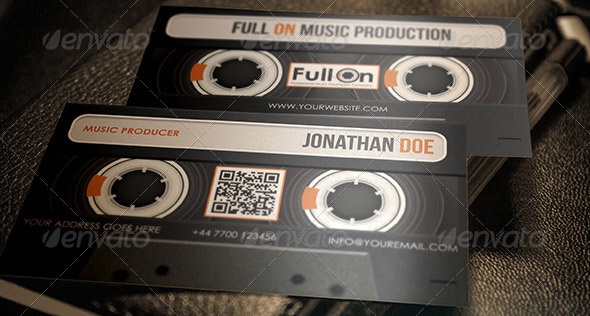 Audio Cassette Business Card for Music Industry