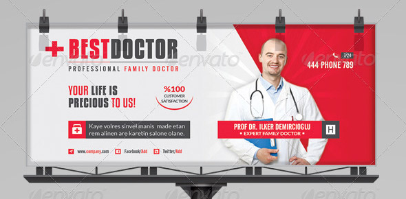 Best Doctor Billboard Roll-Up Template