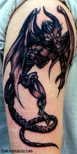 Demon Alien Tattoo On Arm