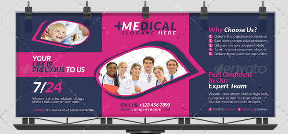 Health Business Bilboard Roll-Up