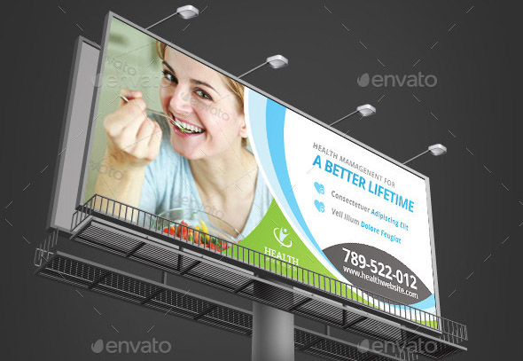 Health Medical Care Billboard Outdoor Template